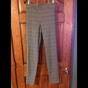 NWT Skinny Plaid Pants, Large